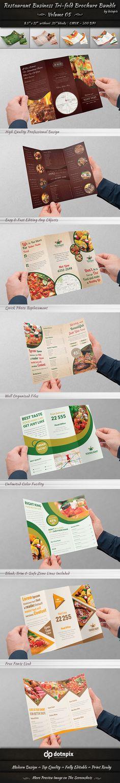 Restaurant Tri-Fold Brochure Bundle | Volume 5 on Behance