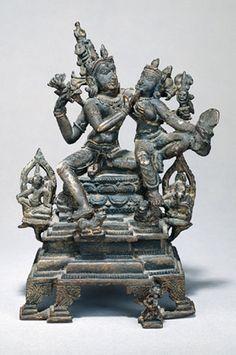 #Shiva and #Parvati India, Bihar or Bengal; Pala period (c.8th - 12th century)…