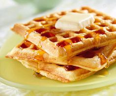 waffles. . .pretty much my favorite food. Especially with peanut butter on top! yum!