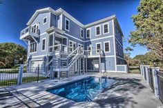 Second row beach home steps from the sand in Myrtle Beach, SC