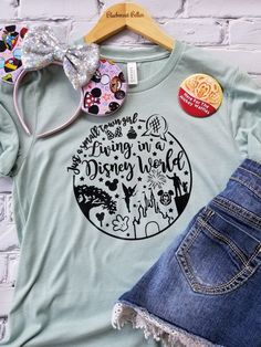 Disney Shirt/Disney Family Shirts/Disney Shirts for Women/Just A Small Town Girl Living In A Disney World Shirt/Disney World/Magic Kingdom Disney World Outfits, Disneyland Outfits, Disney World Trip, Disney Fashion, Disney World Shirts, Disney Shirts For Family, Shirts For Teens, Disney Tees, Disney Diy