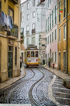 Lisbon – The City of Seven Hills Tram 28 weaves its way through Lisbon, Portugal Visit Portugal, Spain And Portugal, Portugal Travel, Portugal Trip, Lisbon Tram, Lisbon City, Places To Travel, Places To Visit, Scenic Photography