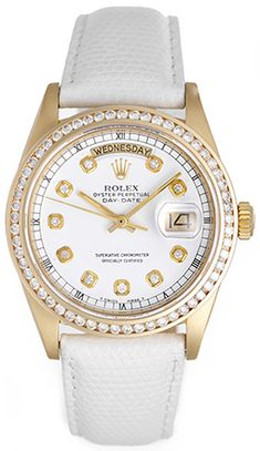 A big Rolex watch for ladies! Men's size 36mm 18k yellow gold and diamonds.