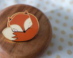 Sleepy Mr Fox ENAMEL PIN (12.00 USD) by kushkush