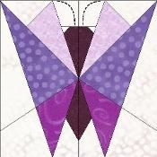 Butterfly paper pieced - via @Craftsy