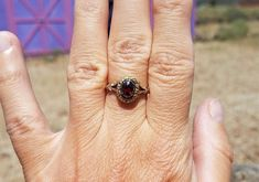 Georgian Style Foiled Garnet Engagement Ring Antique Engagement Ring Victorian Style Ring Victorian Ring Georgian Ring Yellow Gold Silver s ring is century in a Georgian Style. Possibly Edwardian period. Antique Style Engagement Rings, Right Hand Rings, Garnet Rings, Shades Of Red, Yellow Gold Rings, Georgian, Victorian Fashion, Period, Victorian Ring