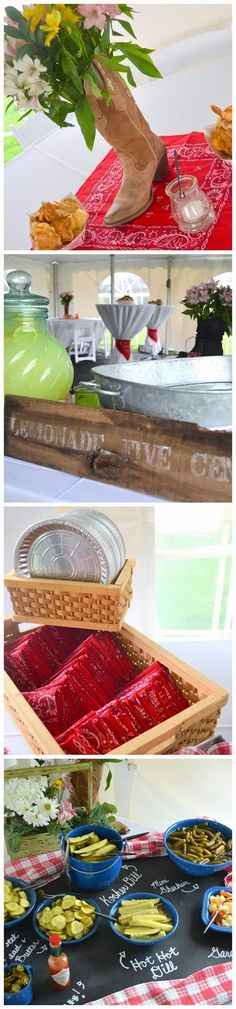 Beer Boots and BBQ - The Night Before The Wedding - Menu and Decor - Invite Out-of-town Guests To An Event The Night Before The Wedding - 4th of July Outdoor Grill Out Ideas