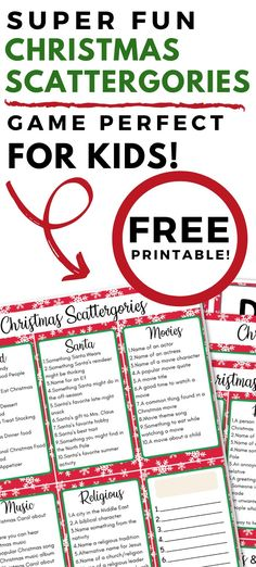 Looking for some Christmas entertainment? Christmas Scattergories is a fun and competitive game to play together as a family! #gameforkids #familygame #printable #fun #funforkids… More