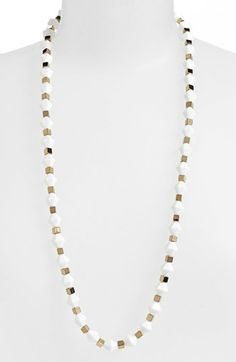 Tory Burch 'White Stone' Beaded Necklace available at #Nordstrom