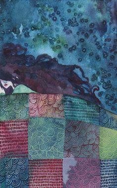 "bookspaperscissors:  ""rosewong:  "" Sleepy Snow White by: Nokkasili  "" """
