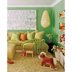 A playroom that could double as an adult living space from designer Jeff Andrews. Via @California Home + Design Magazine