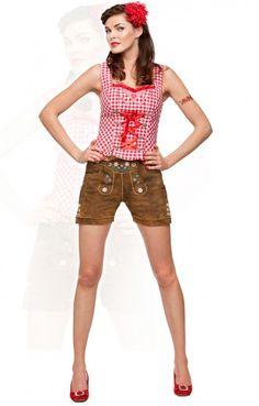 Oktoberfest leather shorts Jacky brown sugar h-beam