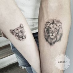 mini tattoos with meaning . mini tattoos for girls with meaning . mini tattoos for women Lion And Lioness Tattoo, Tiger Face Tattoo, Lion Head Tattoos, Leo Tattoos, Animal Tattoos, Body Art Tattoos, Tattos, Lion Tattoo King, Lioness Tattoo Design