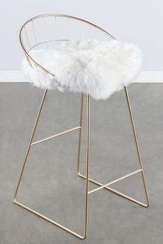 T414FUR-Kylie Sheepksin Bar/Counter Chair #ChairIdeas
