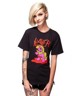 "Unisex ""My Metal Pony"" Tee by Idiot Cult (Black) #inkedshop #metalpony #slayer #tshirt #fashion #mlp"