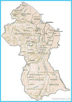 awesome Map of Guyana Travelsmaps Pinterest Public transport