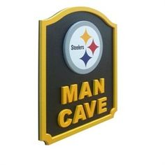 Pittsburgh Steelers Man Cave Shield Art Sign