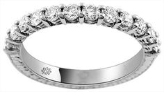 1.01 Carat Shared Prong Diamond Antique Style Anniversary Band