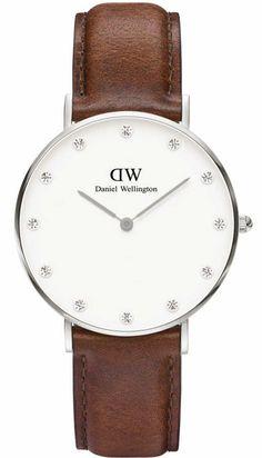 Daniel Wellington Women's Classic St. Andrew 0960DW Brown Leather Quartz Watch Deal