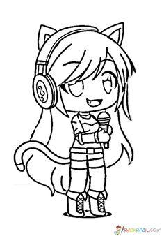 Gacha Life Coloring Pages. Print for Free Unicorn Coloring Pages, Cute Coloring Pages, Coloring Pages For Girls, Cute Anime Chibi, Kawaii Anime, Kawaii Girl, Life Sketch, Drawing Tutorials For Beginners, Cute Animal Drawings Kawaii