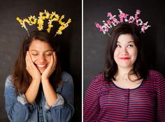 Floral Happy Birthday Headband DIY