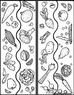 Free Printable Mix Vegetables Coloring Sheets For Kids