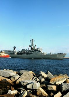 The Chilean navy ship Almirante Blanco Encalada (FF 15) leaves Mayport in the U.S. to take part in the UNITAS Gold joint naval exercises off the coast of Jacksonville, Florida. Mayport is hosting naval forces from Argentina, Brazil, Canada, Chile, Colombia, Ecuador, Germany, Mexico, Peru, the U.S. and Uruguay in the 50th iteration of the annual multinational maritime exercises from 20 April to 5 May in Florida