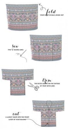 diy kimono from scarf