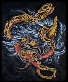 Horimono XIV: la Serpiente o Hebi II