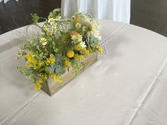 Tiger Garden Fall Wedding Centerpiece - yellow - whimsical - succulent