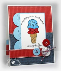 Better with Sprinkles by mom2n2 - Cards and Paper Crafts at Splitcoaststampers