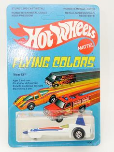 HOT WHEELS FLYING COLORS BLACKWALL TRICAR X8 EN BLISTER FRANÇAIS FRENCH CARD | eBay