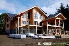 Healthy and breathable log home, 3 floors.