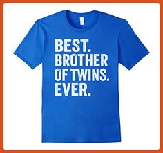 Mens Best Brother Of Twins Ever Shirt Medium Royal Blue - Relatives and family shirts (*Partner-Link)