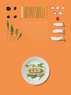 Dish discontruction photography / still life by Acre for Singapore based Italian restaurant brand