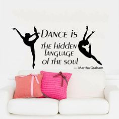 Mur Stickers cite vinyle autocollant Decal Art Home Decor Mural cite danse est le caché langue de Soul Ballet ballerine Kids pépinière AN184