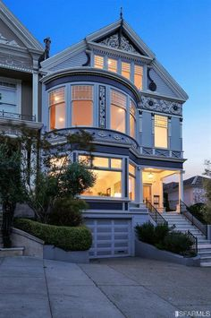 The home's exterior showcases quintessential Victorian details. Source: Coldwell Banker