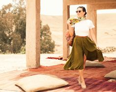 Kelly skirt variation idea - lengthened, light weight silk, button to mid thigh. Amazing