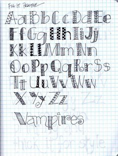 "lettering journal | Flickr - Photo Sharing! (No, I'm not pinning it just because it says, ""vampires!"")"