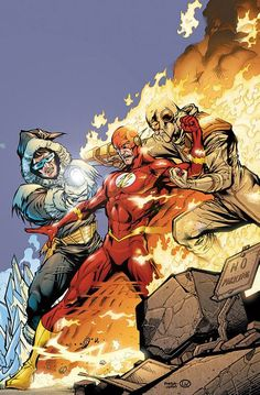 The Flash vs. captain cold and heatwave - visit to grab an unforgettable cool 3D Super Hero T-Shirt!