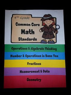 Elementary School Garden: 4th Grade Common Core Math Standards Flip Book