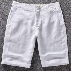 Cheap pant manufacturers, Buy Quality shorts romper directly from China pants to shorts Suppliers: Men's linen shorts men summer cotton beach short men brand 2016 new wild leisure loose solid Cargo shorts men short mens casual Mens Linen Shorts, Mens White Shorts, Linen Trousers, Cotton Shorts, Casual Shorts For Men, Men Casual, Short Blanco, Military Shorts, Mens Boardshorts