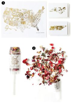 "Thimblepress® Gold Foil State Flower Collection and Floral Eco-Friendly Push-Pop Confetti™ featured on Poppytalk Blog's ""On The Radar"" Series 