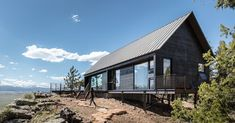 The gabled shape was inspired by vernacular architecture, but these beauties are all modern