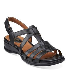 a52ac1839f6c2e Clarks Black Tiffani Oribel Leather Sandal