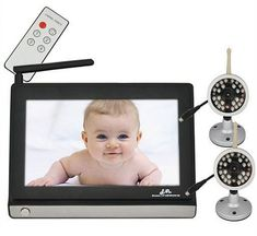 2.4GHz 7'' LCD Wireless Night Vision Video Camera Baby Monitor Vigilabebes and 2 Cameras Remote Control Nany Babysitter