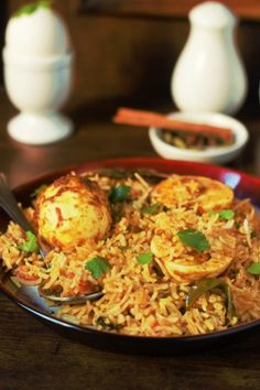 Indian Recipes Anda Biryani Recipe - How to make egg biryani. A simple and easy to make biryani recipe made with egg. A one dish wonder which can be relished on any day, at any time. Fried Fish Recipes, Veg Recipes, Spicy Recipes, Curry Recipes, Indian Food Recipes, Asian Recipes, Vegetarian Recipes, Chicken Recipes, Cooking Recipes