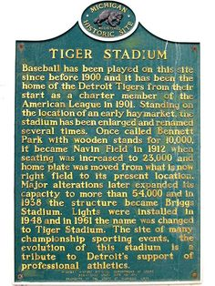 Tiger Stadium, Detroit Mom and dad would take us once a year to see the Tigers play. Liked the game, but liked the peanuts even better! Detroit Rock City, Detroit Sports, Detroit Tigers Baseball, Detroit Lions, Detroit Art, Nfl Sports, Pittsburgh Steelers, Chicago Cubs, Dallas Cowboys