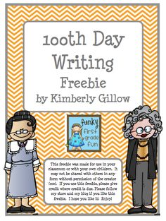"""Free 100th Day Writing Activity!! Follow for Free """"too-neat-not-to-keep"""" teaching tools & other fun stuff :)"""