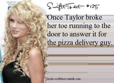 I would break my body for pizza seriously. How do you not love Taylor after this she ACTUALLY EATS UNLIKE MOST OF THE MUSIC INDUSTRY.